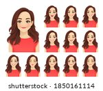 young beautiful woman with... | Shutterstock .eps vector #1850161114