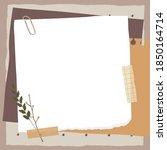 scrapbook composition with... | Shutterstock .eps vector #1850164714