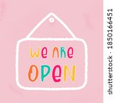 vector open sign with text   we ...   Shutterstock .eps vector #1850166451