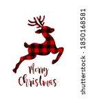vector deer silhouette drawing...   Shutterstock .eps vector #1850168581
