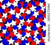 colored red and blue stars... | Shutterstock .eps vector #1850172484