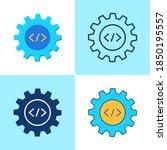 web development icon set in...   Shutterstock .eps vector #1850195557