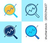 progress monitoring icon set in ... | Shutterstock .eps vector #1850196637
