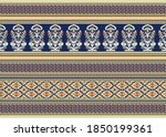 seamless vector tribal border... | Shutterstock .eps vector #1850199361