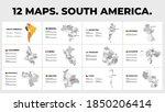 south america. vector map... | Shutterstock .eps vector #1850206414