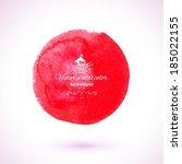 bright red watercolor vector...   Shutterstock .eps vector #185022155