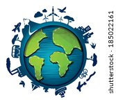 earth day template   suitable... | Shutterstock .eps vector #185022161