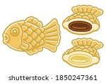 bungeoppang and inside images.... | Shutterstock .eps vector #1850247361