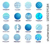 globe symbols. circle forms... | Shutterstock .eps vector #1850259184