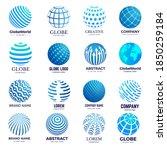 globe symbols. circle forms... | Shutterstock .eps vector #1850259184