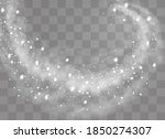 snow and wind on a transparent... | Shutterstock .eps vector #1850274307