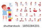 toddler child  little boy... | Shutterstock .eps vector #1850284201