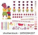 toddler child  little black... | Shutterstock .eps vector #1850284207