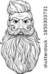 hipster man with beard. old | Shutterstock .eps vector #1850303731