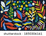 set plant modern abstract.... | Shutterstock .eps vector #1850306161