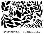 set plant modern abstract....   Shutterstock .eps vector #1850306167