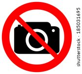 no photo camera vector sign...