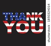 thank you american flag vector... | Shutterstock .eps vector #1850324014
