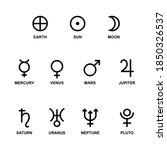 astrological symbols signs of... | Shutterstock .eps vector #1850326537