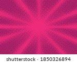 magenta comic book pop art...   Shutterstock .eps vector #1850326894