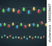 realistic christmas elements on ... | Shutterstock .eps vector #1850328607