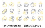 set of food and drink icons ...   Shutterstock .eps vector #1850333491