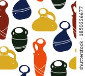 Pottery  Flat Colored Varied...