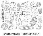 vector fresh drawn bread on a... | Shutterstock .eps vector #1850345314