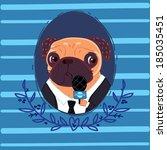 pug reporter | Shutterstock .eps vector #185035451