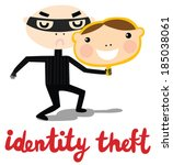 identity theft criminal | Shutterstock .eps vector #185038061