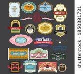 european label vector and logo | Shutterstock .eps vector #1850381731