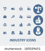 industry icons | Shutterstock .eps vector #185039651