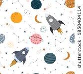 space background illustration... | Shutterstock .eps vector #1850404114