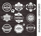 soccer football typography... | Shutterstock .eps vector #185041805