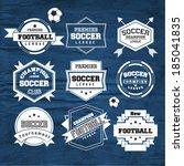 soccer football typography... | Shutterstock .eps vector #185041835