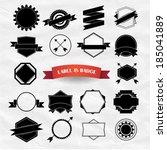 modern vintage labels  stamp... | Shutterstock .eps vector #185041889