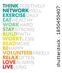 think positively  network well  ... | Shutterstock .eps vector #1850450407