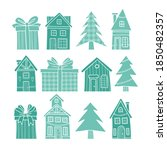 vector silhouettes of christmas ... | Shutterstock .eps vector #1850482357