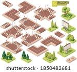 vector isometric city street...   Shutterstock .eps vector #1850482681