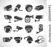 cctv icons  surveillance camera ...