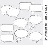 comic speech bubbles. vector...