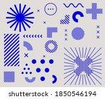 bauhaus inspired graphic design ... | Shutterstock .eps vector #1850546194