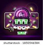 realistic detailed 3d casino... | Shutterstock .eps vector #1850546584