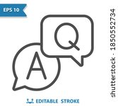 q and a icon. professional ...   Shutterstock .eps vector #1850552734