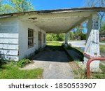 Old Empty Abandoned Service Ga...