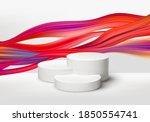 3d realistic white pedestal on... | Shutterstock .eps vector #1850554741