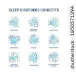 sleep disorder turquoise... | Shutterstock .eps vector #1850571394