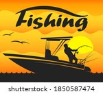 Fishing Boat With Fisherman And ...