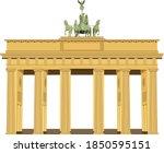the brandenburg gate located in ...   Shutterstock .eps vector #1850595151