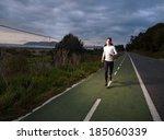runner man portrait with flash... | Shutterstock . vector #185060339